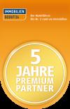 Zertifikat Immoscout 5 Jahre Premiumpartner