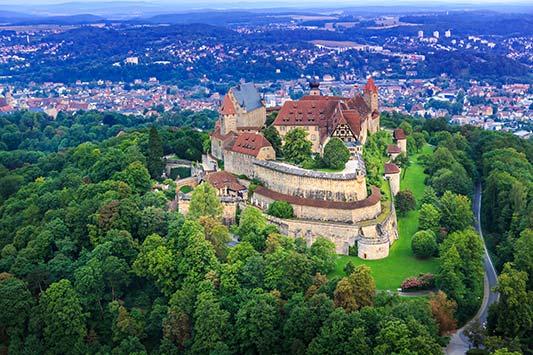 Coburg Burg Luftaufnahme